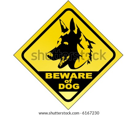 Beware of dog - vector sign