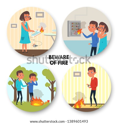 Boys Playing With Fire Download Free Vectors Clipart