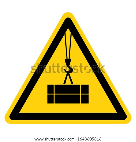 Beware Suspended Load Symbol Sign ,Vector Illustration, Isolate On White Background Label. EPS10