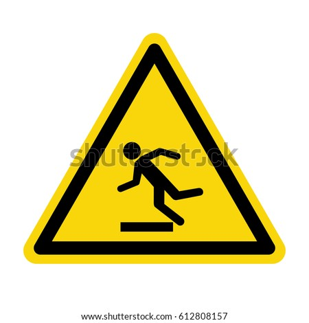 Beware uneven floor sign, symbol ,vector, illustration