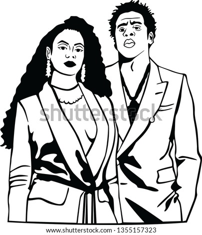 beyonce and jay z vector black