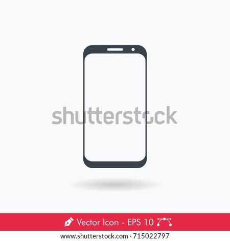 Bezel Less Display Smartphone Icon/Vector
