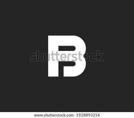 BF  B and F initial letter logo templates Stock fotó ©