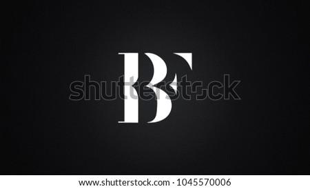 BF Letter Logo Design Template Vector Stock fotó ©
