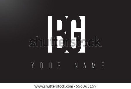 BG Letter Logo With Black and White Letters Negative Space Design.