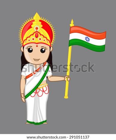 bharat mata   patriotic concept