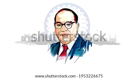 Bhimrao ambedkar. Dr. Bhimrao ambedkar. B. R. Ambedkar. Jayanti Indian Babasaheb day celebration vector Illustration Stock fotó ©