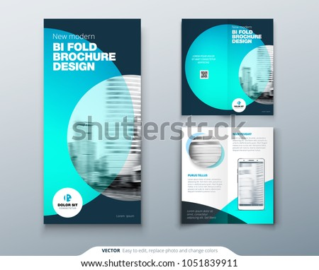 modern two fold brochure template download free vector art stock