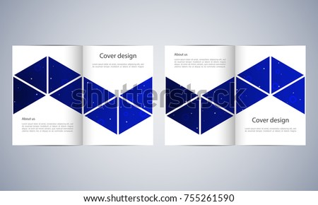 Open Book Or Bifold Brochure Mockup Vector Template Download - Brochure templates download