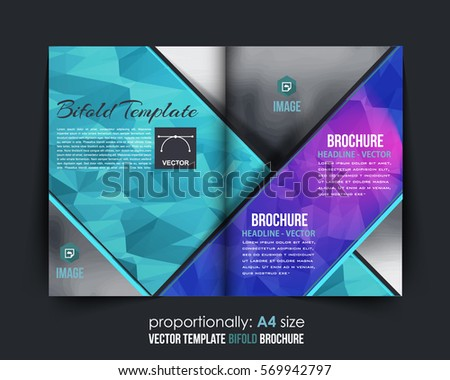 abstract bi fold business brochure design template download free