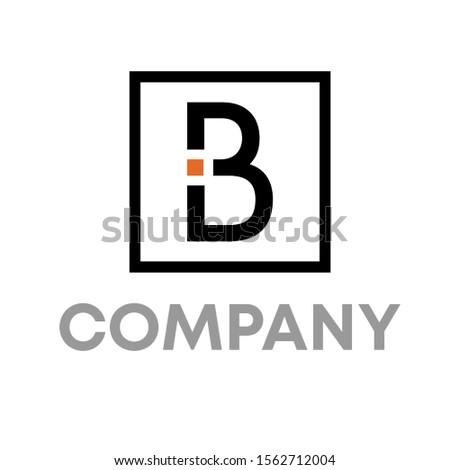 BI logo vector design template sign Foto stock ©