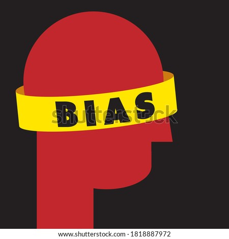 Bias illustration - person's dismissal of facts that don't fit their narrow worldview  Stock photo ©