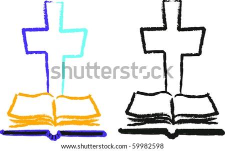 bible cross religion christianity symbols vector god - stock vector