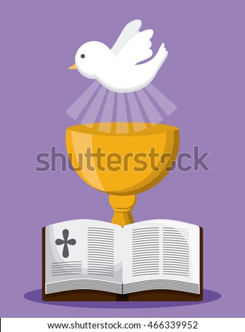 bible dove cup gold religion