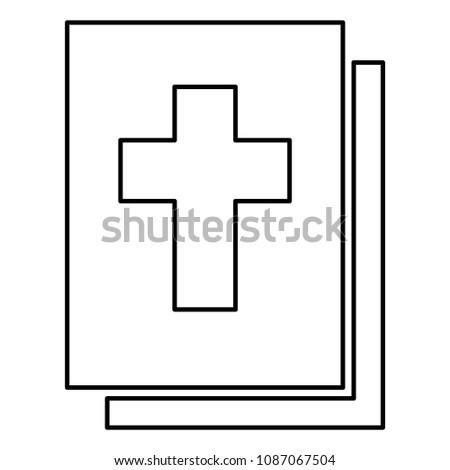 Bible icon black color outline