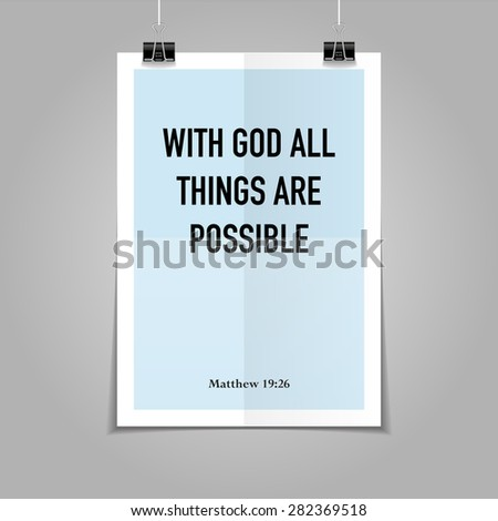 bible quote hipster poster on a
