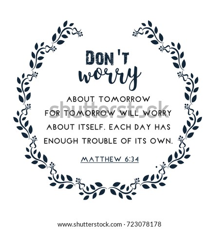 bible quote in wreath text frame