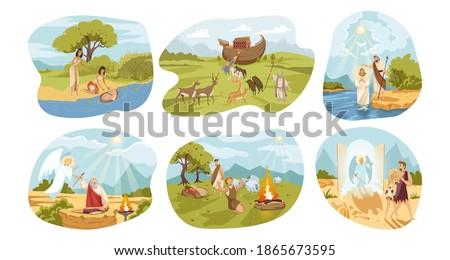Bible, religion, christianity set concept Foto stock ©