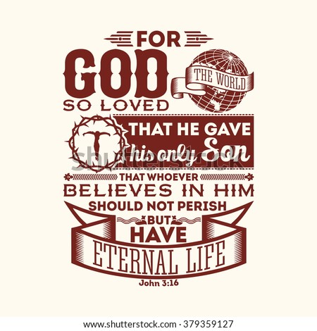 bible typographic for god so