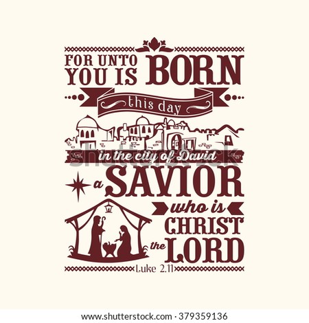 bible typographic for unto you