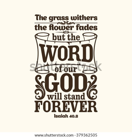 bible typographic the grass