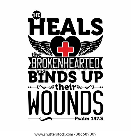 biblical illustration he heals