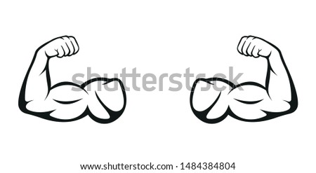 Biceps. Muscle icon. Gym logo. Vector illustration