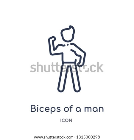 biceps of a man icon from people outline collection. Thin line biceps of a man icon isolated on white background.