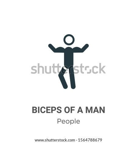 Biceps of a man vector icon on white background. Flat vector biceps of a man icon symbol sign from modern people collection for mobile concept and web apps design.