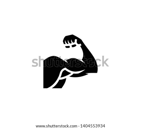 Biceps vector isolated flat icon. Power arm illustration