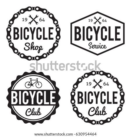 bicycle badges labels set. bike ...