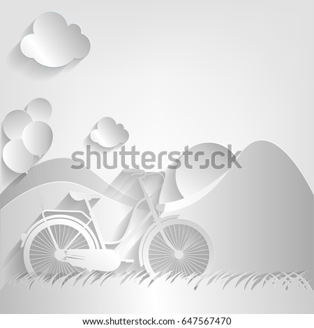 bicycle  balloon  sun and