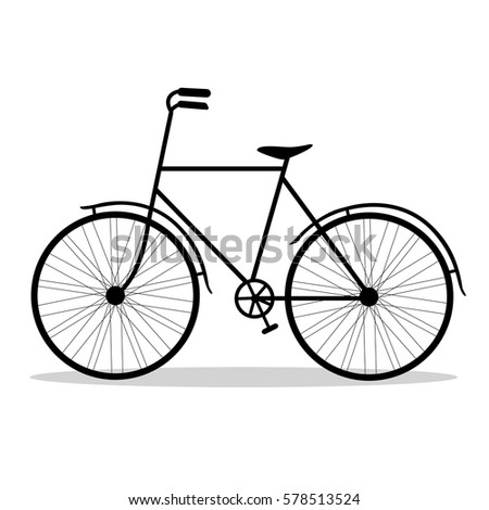 bicycle bicycle isolated on a