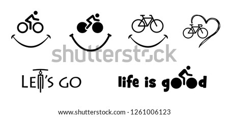Bicycle Bike Bicycling face smile smiley Vector Race Le Tour de France Sport signs sign icon icons Giro Italia UCI d'italia cyclists funny fun Vuelta cyclist riding love fun funny life is good UCI