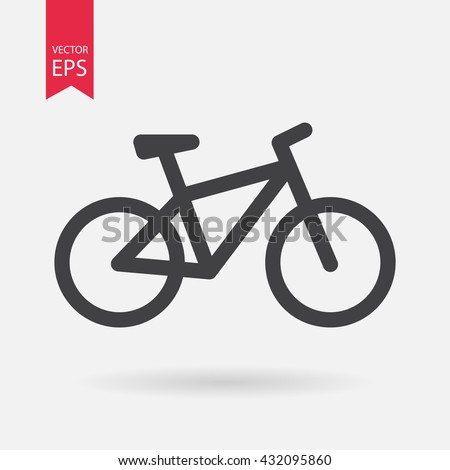 Bicycle. Bike icon vector. Cycling concept. Sign for bicycle path Isolated on white background. Trendy Flat style for graphic design, logo, Web site, social media, UI, mobile app, EPS10