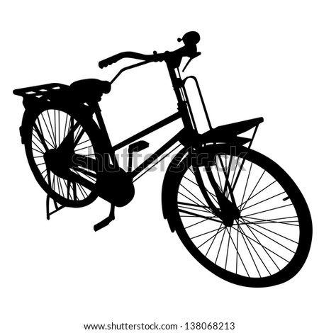 bicycle bike silhouette vector