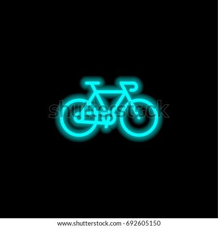 bicycle blue glowing neon ui ux