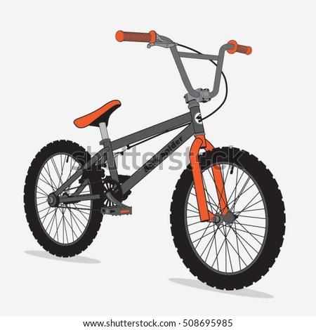Bicycle bmx sport illustration, typography, t-shirt graphics, vectors