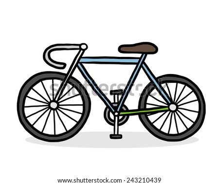 bicycle   cartoon vector and
