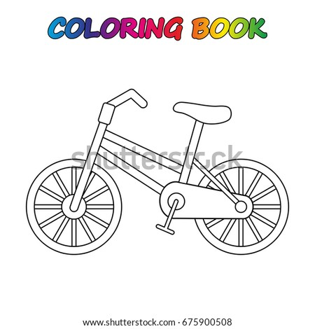 collection of happy children in different positions bicycle coloring book game for kids - Bicycle Coloring Book