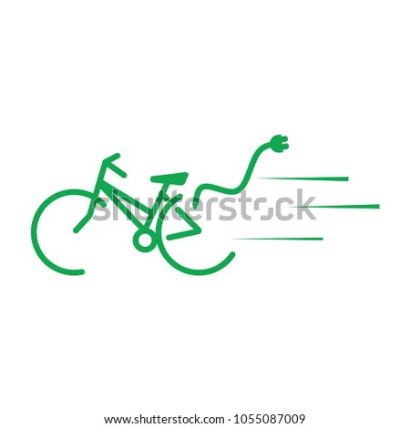 Bicycle ecological energy  vector