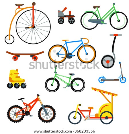 bicycle flat style isolated on