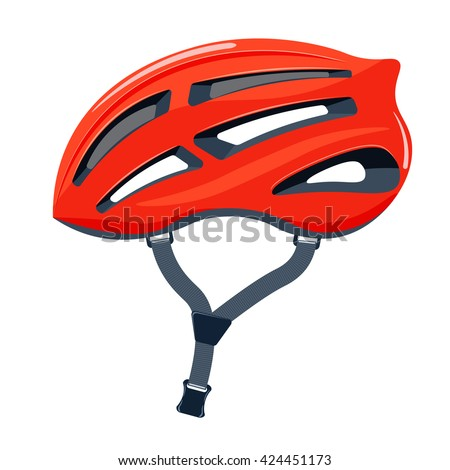 bicycle helmet vector illustration. bike helmet isolated on a white background