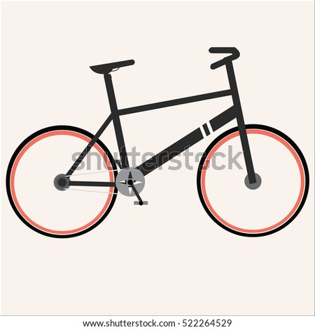 bicycle icon flat vector