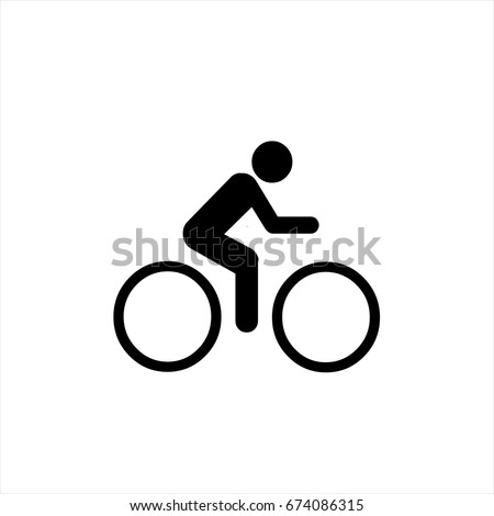bicycle icon in trendy flat