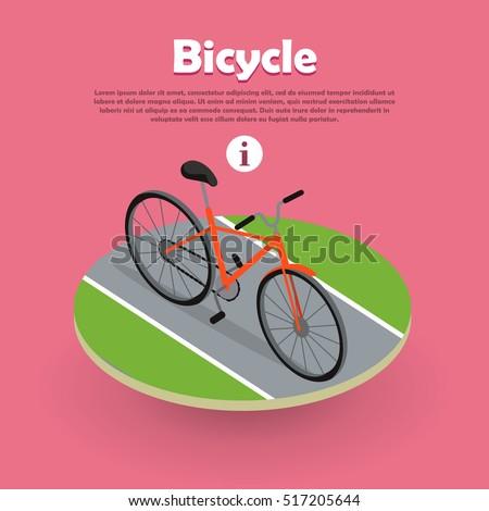 bicycle icon isometric design