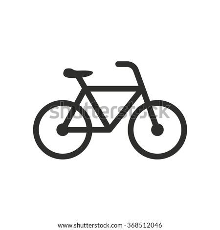 bicycle  icon  on white