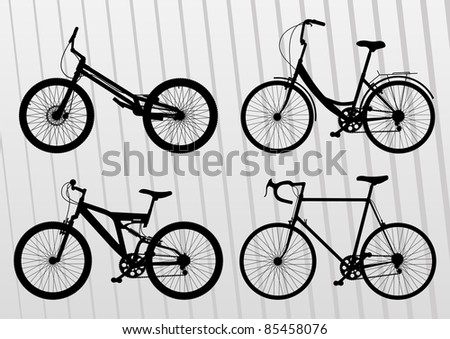Bicycle illustration collection