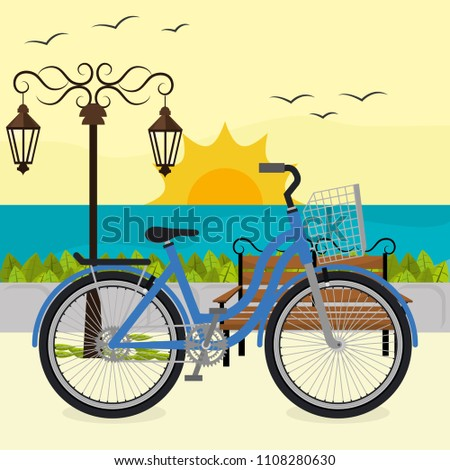 bicycle in the beach scene