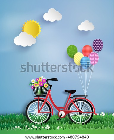 bicycle in the garden with